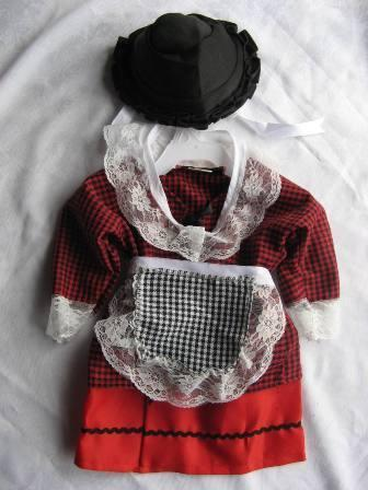 girls Welsh Lady Traditional Costume Set