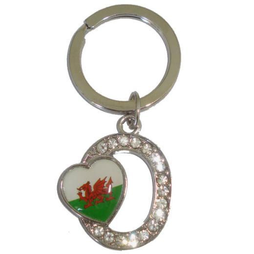 Pewter Welsh Lovespoon Keyring Horse Shoe /& Celtic Cross Cast in England.