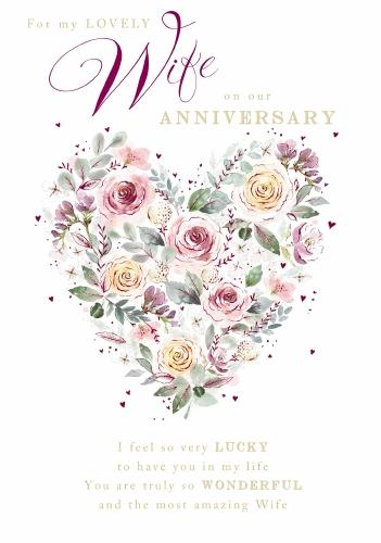 Wife Anniversary Card Large 2 25 Welsh Gifts
