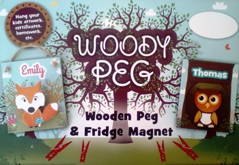 Sienna Personalised Wooden Peg